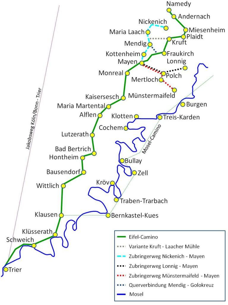 Karte mit freundl. Genehmigung der St. Matthiasbruderschaft Mayen