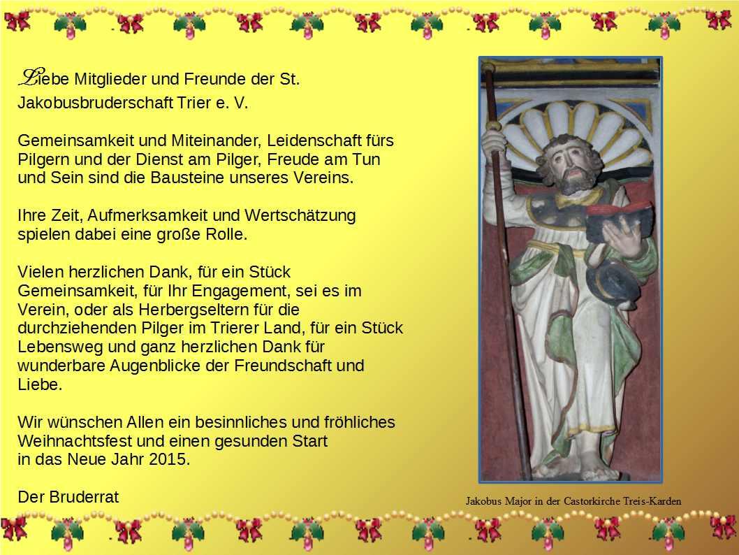 Weihnachtswünsche Jakobus Treis Karden